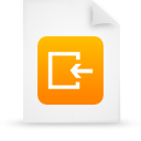 file document paper orange g14987 Png Icon