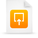 file document paper orange g15001 Png Icon