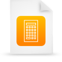 file document paper orange g15112 Png Icon