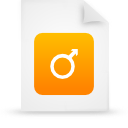 file document paper orange g15127 Png Icon