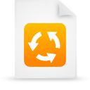 file document paper orange g15138 Png Icon