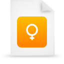file document paper orange g15139 Png Icon