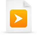 file document paper orange g15255 Png Icon