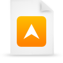 file document paper orange g15279 Png Icon