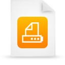 file document paper orange g16043 Png Icon