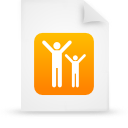file document paper orange g16091 Png Icon