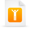 file document paper orange g16109 Png Icon