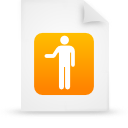 file document paper orange g16139 Png Icon