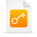 file document paper orange g16237 Png Icon