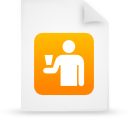file document paper orange g16249 Png Icon