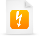 file document paper orange g18347 Png Icon
