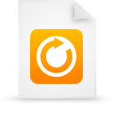file document paper orange g18390 Png Icon