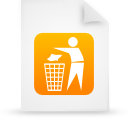 file document paper orange g19130 Png Icon