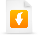 file document paper orange g21058 Png Icon