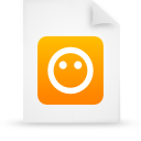 file document paper orange g21210 Png Icon