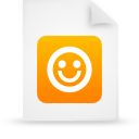 file document paper orange g21229 Png Icon