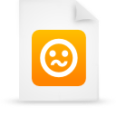 file document paper orange g21273 Png Icon