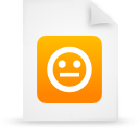 file document paper orange g21299 Png Icon
