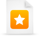 file document paper orange g21455 Png Icon