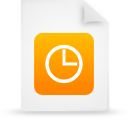 file document paper orange g21496 Png Icon