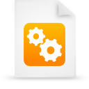 file document paper orange g21510 Png Icon