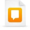 file document paper orange g21743 Png Icon