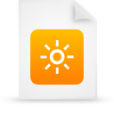 file document paper orange g37836 Png Icon