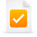 file document paper orange g38055 Png Icon
