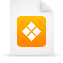 file document paper orange g38359 Png Icon
