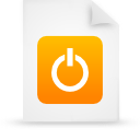 file document paper orange g38420 Png Icon