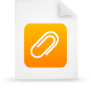 file document paper orange g38444 Png Icon
