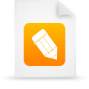 file document paper orange g38802 Png Icon