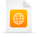 file document paper orange g38942 Png Icon