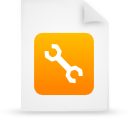 file document paper orange g38991 Png Icon