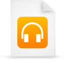 file document paper orange g39009 Png Icon