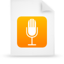 file document paper orange g8523 Png Icon