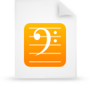 file document paper orange g8620 Png Icon