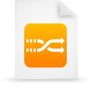 file document paper orange g8687 Png Icon