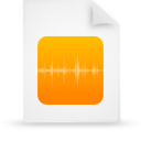 file document paper orange g8769 Png Icon