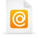 file document paper orange g9432 Png Icon