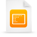 file document paper orange g9539 Png Icon