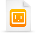 file document paper orange g9590 Png Icon