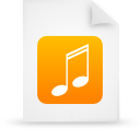 file document paper orange g9624 Png Icon