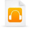 file document paper orange g9641 Png Icon