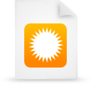 file document paper orange g9692 Png Icon