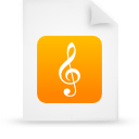 file document paper orange g9712 Png Icon