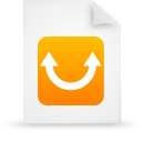 file document paper orange g9746 Png Icon