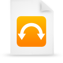 file document paper orange g9806 Png Icon