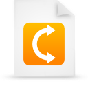 file document paper orange g9908 Png Icon