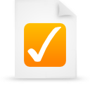 file document paper orange g9959 Png Icon